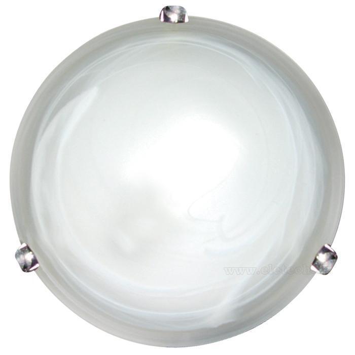 Купить Светильник Duna 153/K круг d300 / Дюна алеб. мат. E27 1*60W / 2*60W белый/хром, Сонекс