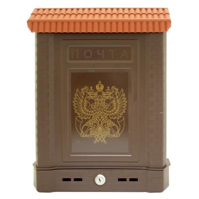 Ящик почтовый Премиум внешний с замком корич. 5965 фото