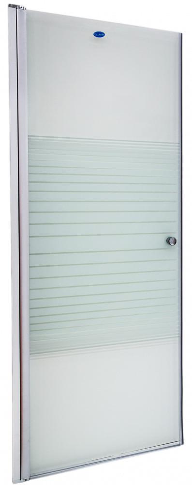 Купить со скидкой Дверь душевая Villagio 90*190 Прозрачное стекло полосы L1203