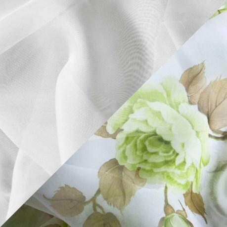 Купить Комплект штор для кухни 340х160 Минима зеленый, Witerra, вуаль