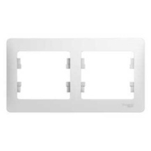 Рамка Sсhneider Glossa 000102 2-я белая фото