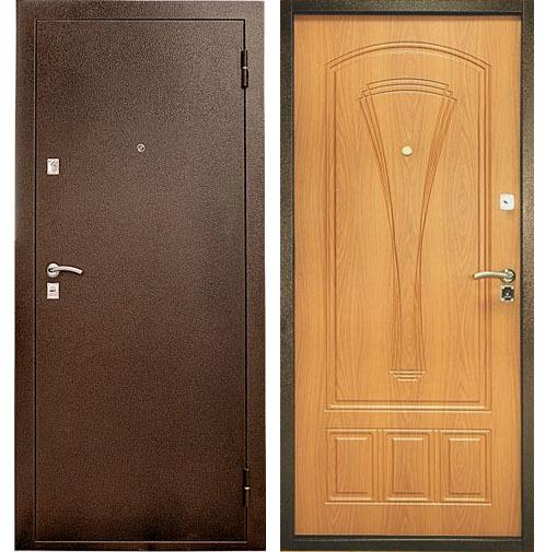Купить со скидкой Дверь металлическая Уд-104 860х2050мм миланский орех правая