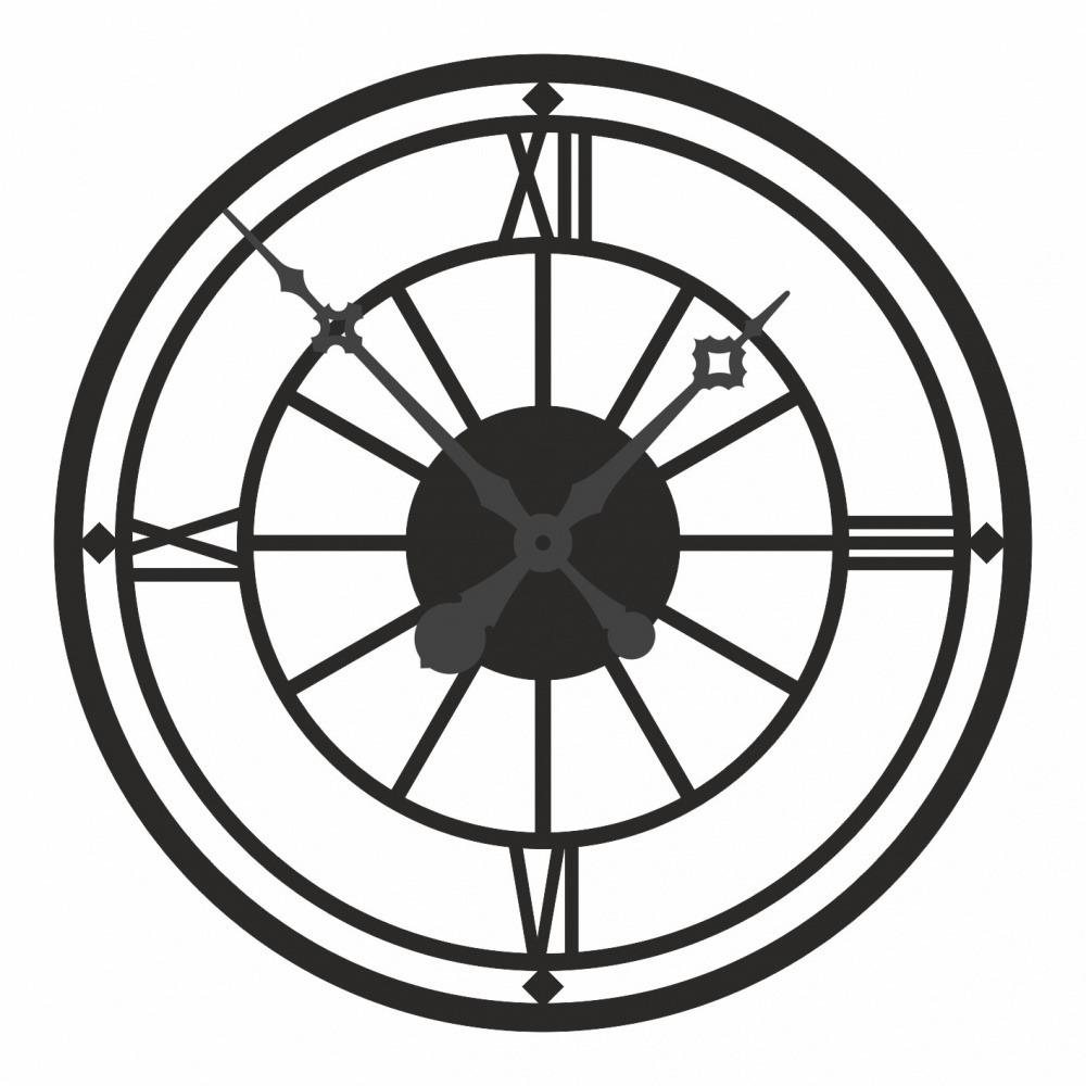 Часы настенные Римские Цифры металл, лофт М1-4 фото