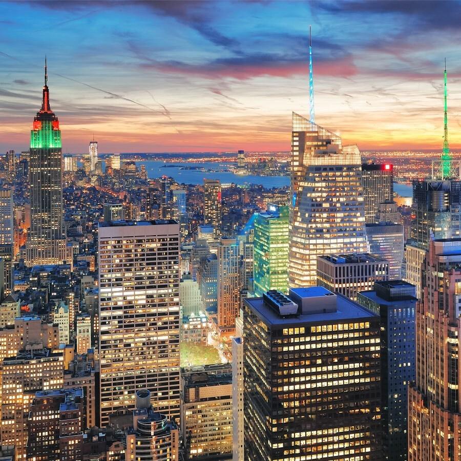 Фотообои Flizelini Ночной Нью-Йорк 2,7х2,7 м 1020-3F фото