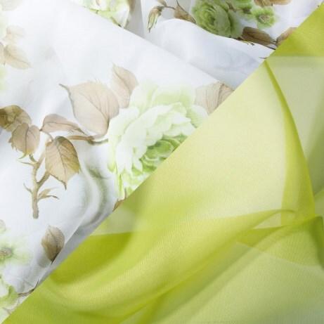 Купить Комплект штор для кухни 285х160 Кантри зеленый, Witerra, вуаль