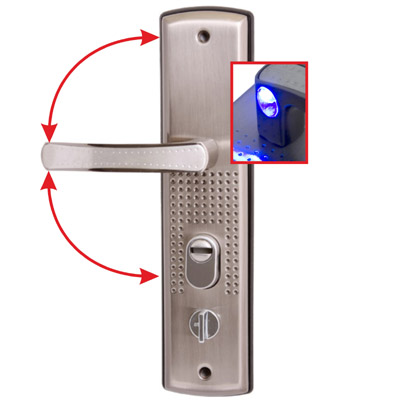 Купить Комплект ручек Стандарт Рн-Ст222-1-L универ.подсветка для металл. дверей левая 7838, никель, сталь