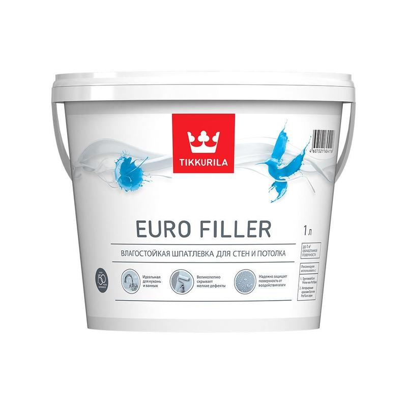 Купить со скидкой Шпатлевка влагостойкая Euro Filler 1л.