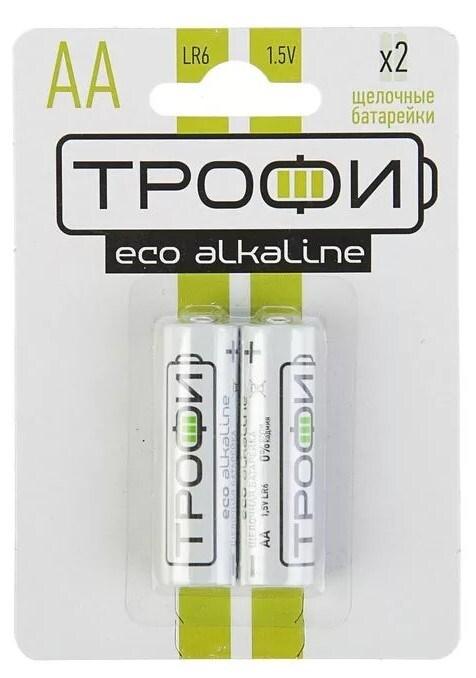 Батарейки Трофи Lr6-2Bl Eco  пальчиковые