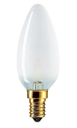 Лампа накал. Pila/Philips свеча B35 Е27 60W матовая фото