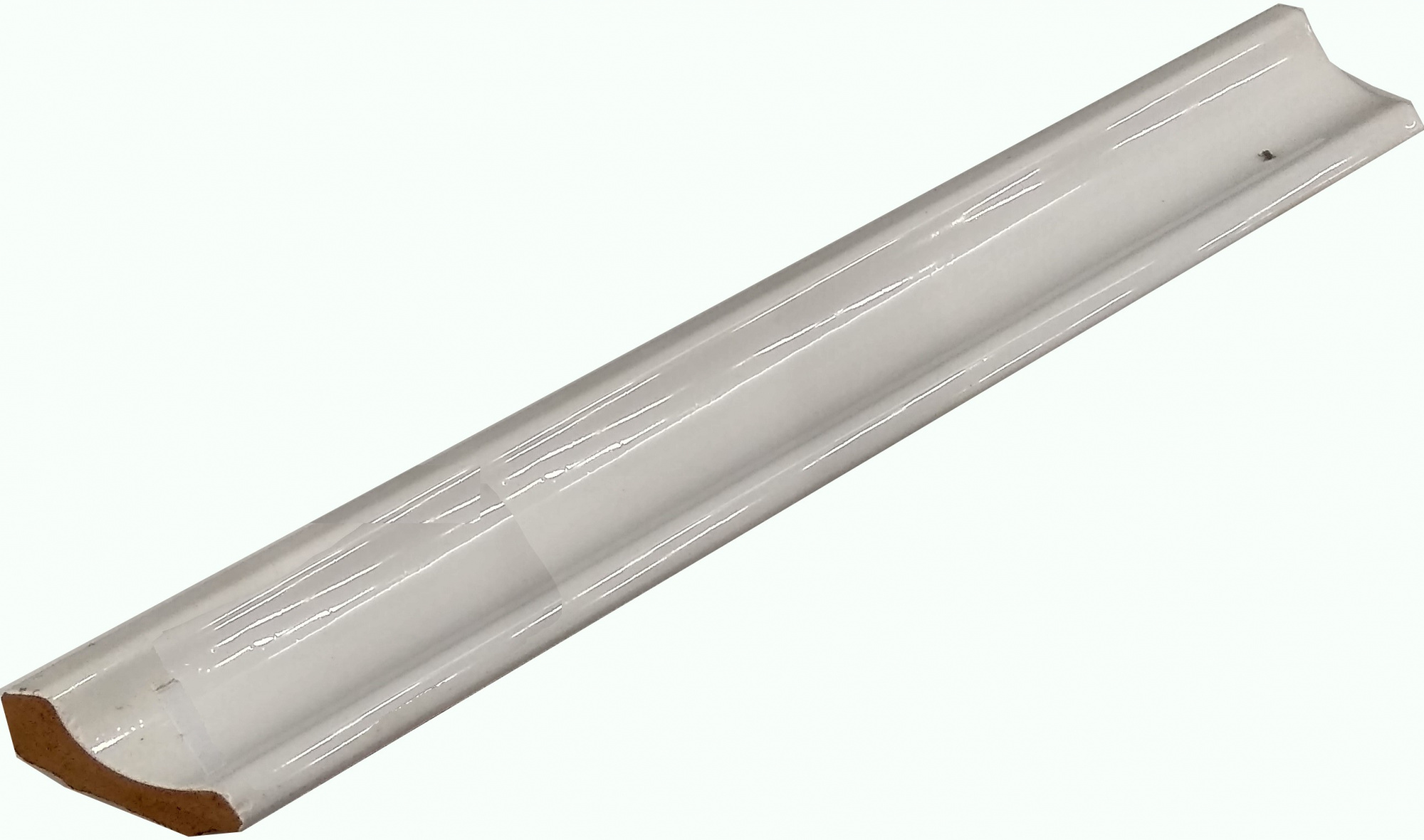 Уголок керамический Керами 250х35, срез правый белый Узкий
