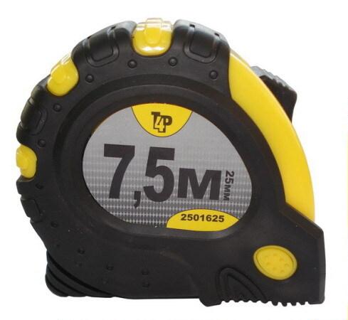Купить со скидкой Рулетка T4p обрезиненный корпус, 3 фиксатора, магнит 7.5м*25мм 2501625