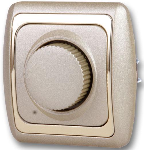 Купить со скидкой Светорегулятор Duwi Дельта 600W золотой металлик 26229 9