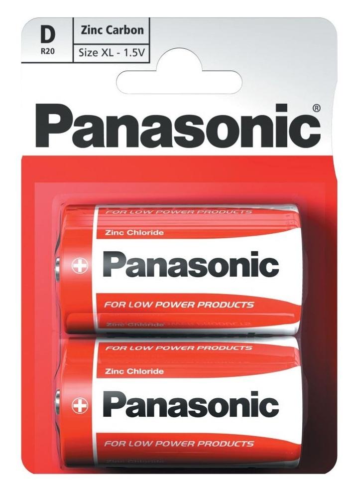 Элемент питания Panasonic Zinc Carbon R20/373 Bl2