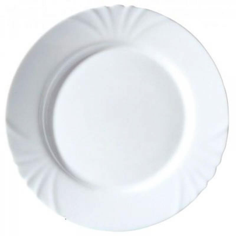 Купить Тарелка 25 см Luminarc Кадикс H4132, белый, стекло