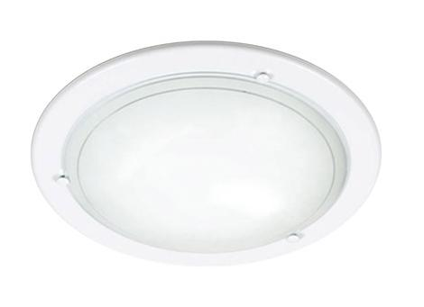Купить со скидкой Светильник Riga 111 круг d310 E27 1*100W белый/белый