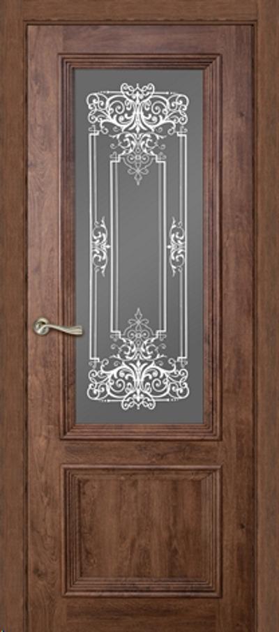 Дверь эколайн Ева Д0 600х2000мм дуб темный фото