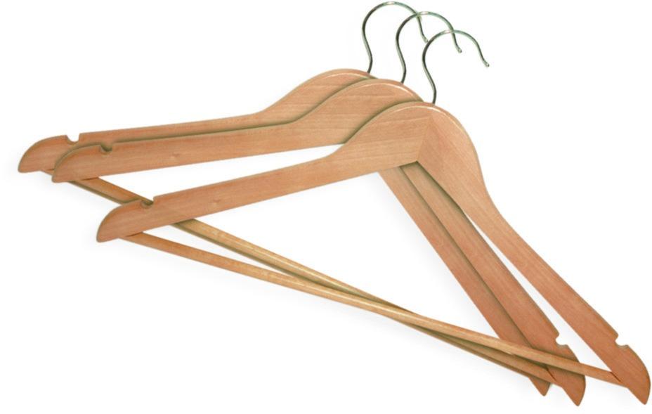 Купить Вешалка York деревянная 67510 (3шт), светло-коричневый, дерево