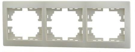 Рамка Lezard 701-0300-148 3-я горизонтальная крем фото
