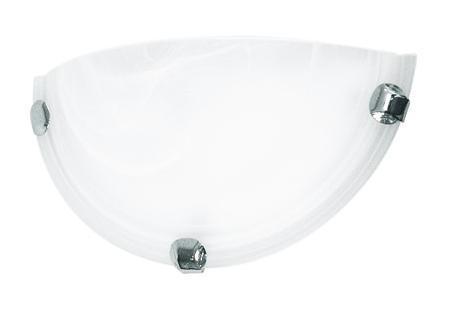 Купить Светильник Duna 053 п/круг d300 / Дюна алеб. мат. E27 1*60W белый/хром, Сонекс