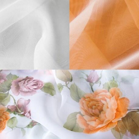Купить Комплект штор для кухни 280х160 Мелодия персик прав, Witerra, персиковый, вуаль