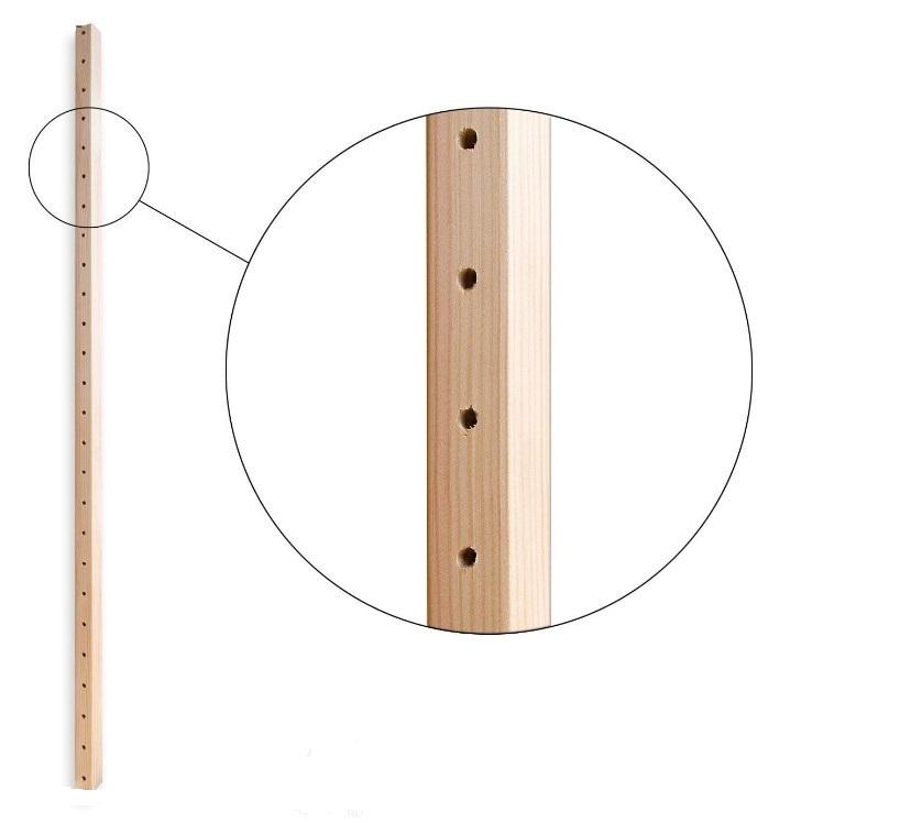 Стойка стеллажа односекционная 2304 мм