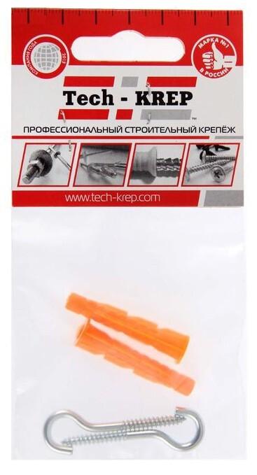 Шуруп-полукольцо Tech-Krep 4х30 с универсальным дюбелем 6,0х36 (2 шт) 114328 фото