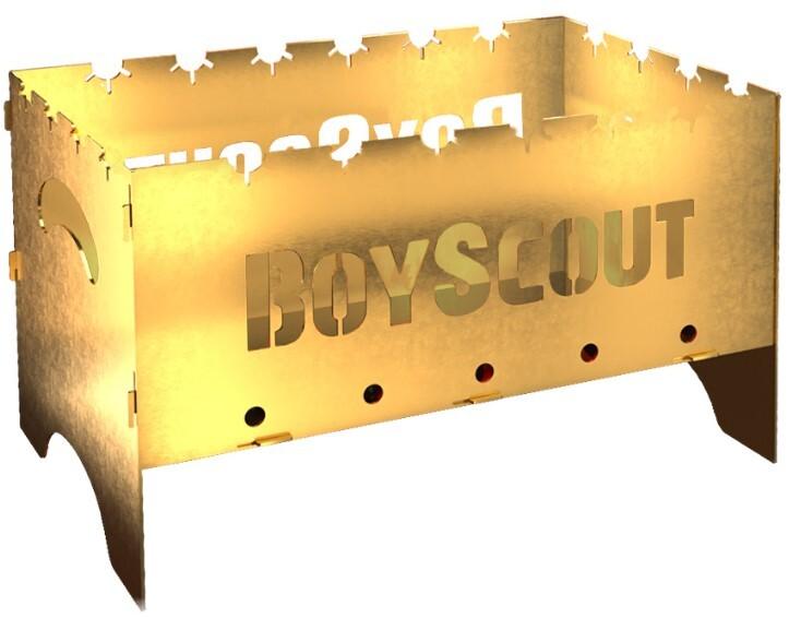 Мангал Boyscout 500х300х300х1,5 мм складной Gold с сумкой