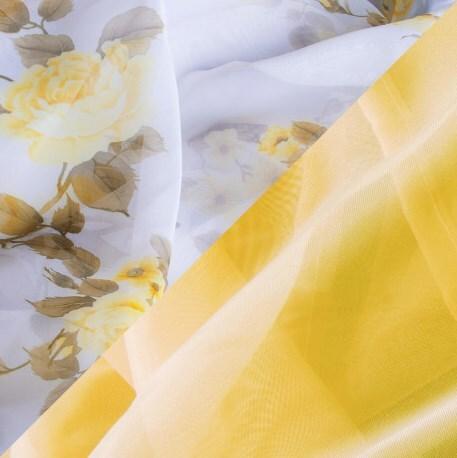 Купить Комплект штор для кухни 285х160 Кантри золото, Witerra, вуаль