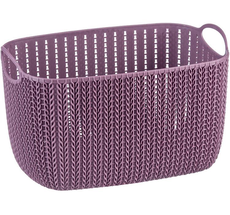 Корзинка 7л Идея Вязание пурпурный ротанг М 2381 фото
