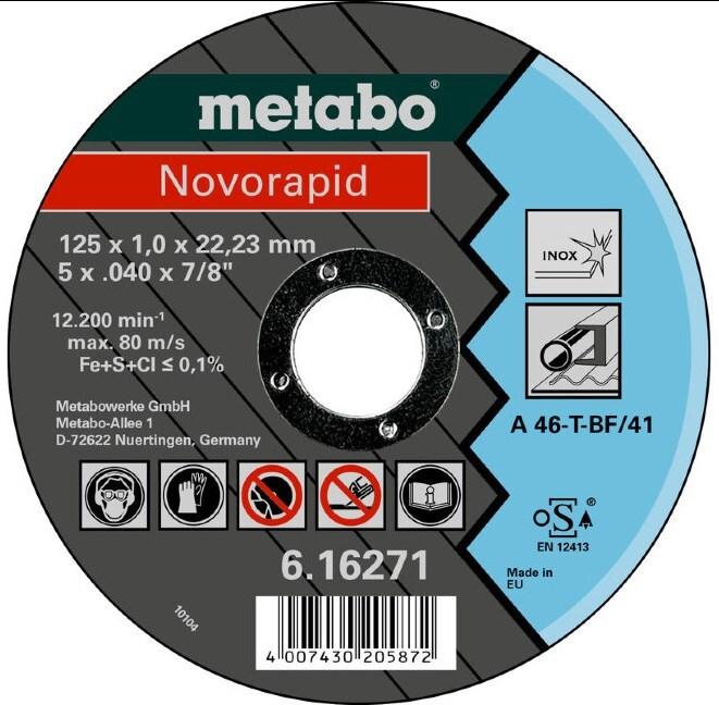 Отрезной круг по металлу Metabo Ø125х1,0 мм фото