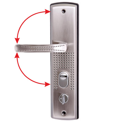 Комплект ручек Стандарт Рн-Ст222-R универс. для металл. дверей правая 7837 фото