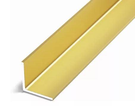 Уголок алюминиевый Лука 15х15х1 золото анод 2метра Уп 04.2000.502л фото