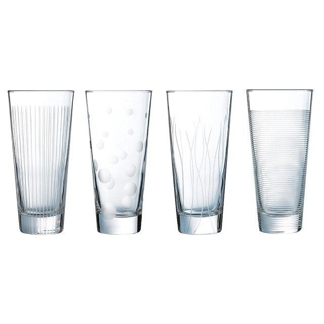 Купить Набор стаканов 350 мл 4 шт Luminarc Лаунж Клаб высокие N5283, стекло