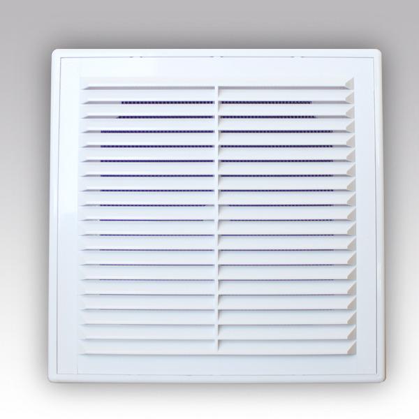 Вентиляционная решетка Р 249*249 Эра 2525Р вытяжная с сеткой и рамкой