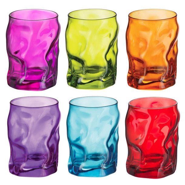 Купить Стакан 300 мл Bormioli Rocco Sorgente микс цветов B340422m, многоцветный, стекло