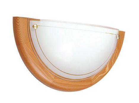 Купить со скидкой Светильник Riga 026 п/круг d310 E27 1*100W белый/дерево/золото
