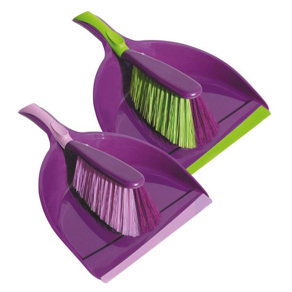 Купить Щетка-сметка и совок York Prestige 62070, фиолетовый, пластик