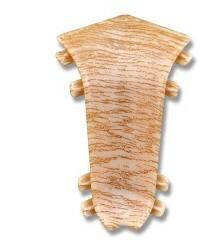 Плинтус Идеал-Элит уголок внутрен. Дуб беленый (2шт.) фото