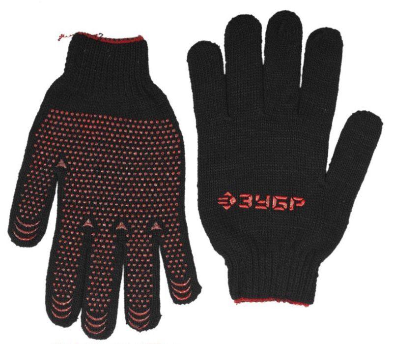 Перчатки трикотаж п/шерсть, защита от скольжения Зубр Мaсtep 7 класс 11462-Xl утепленные фото