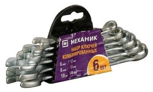 Купить Набор ключей комбинированных (6шт) Механик 6-14мм 27016-H6/ Сибин 27089-H6