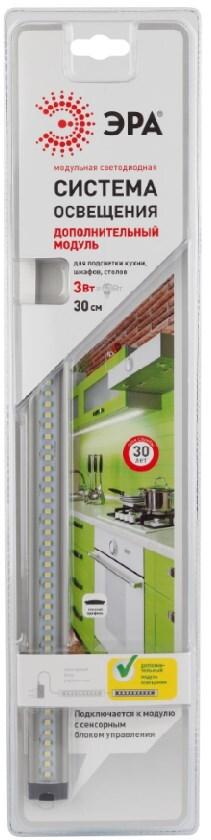 Фото #1: Светильник светодиодный Эра доп модуль 3Вт д/подсветки кухни, шкафов, столов 660