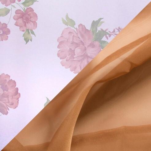 Купить Комплект штор для кухни 285х160 Нежность какао, Witerra, вуаль