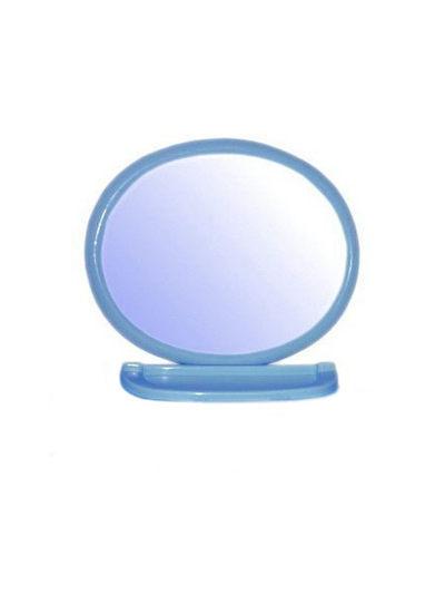 Купить со скидкой Набор для ванной комнаты с зеркалом 1289 овал голубой