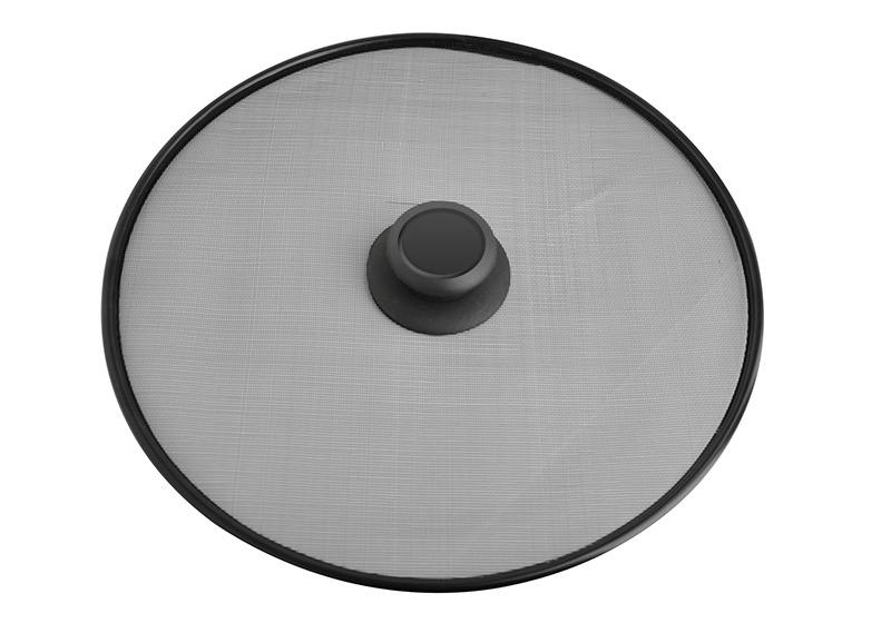 Крышка-экран 29 см Lara черная универсальная нерж.сталь Lr01-96