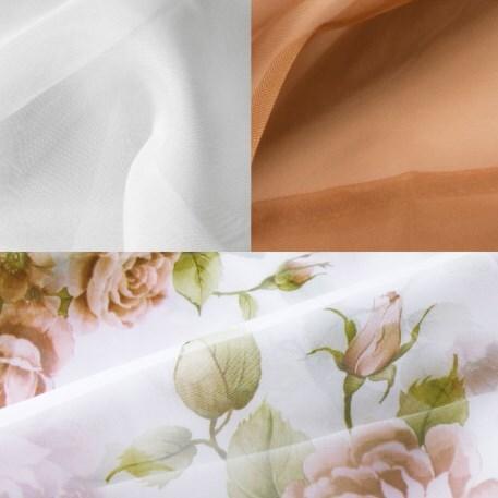 Купить Комплект штор для кухни 280х160 Мелодия св. коричневый прав, Witerra, светло-коричневый, вуаль