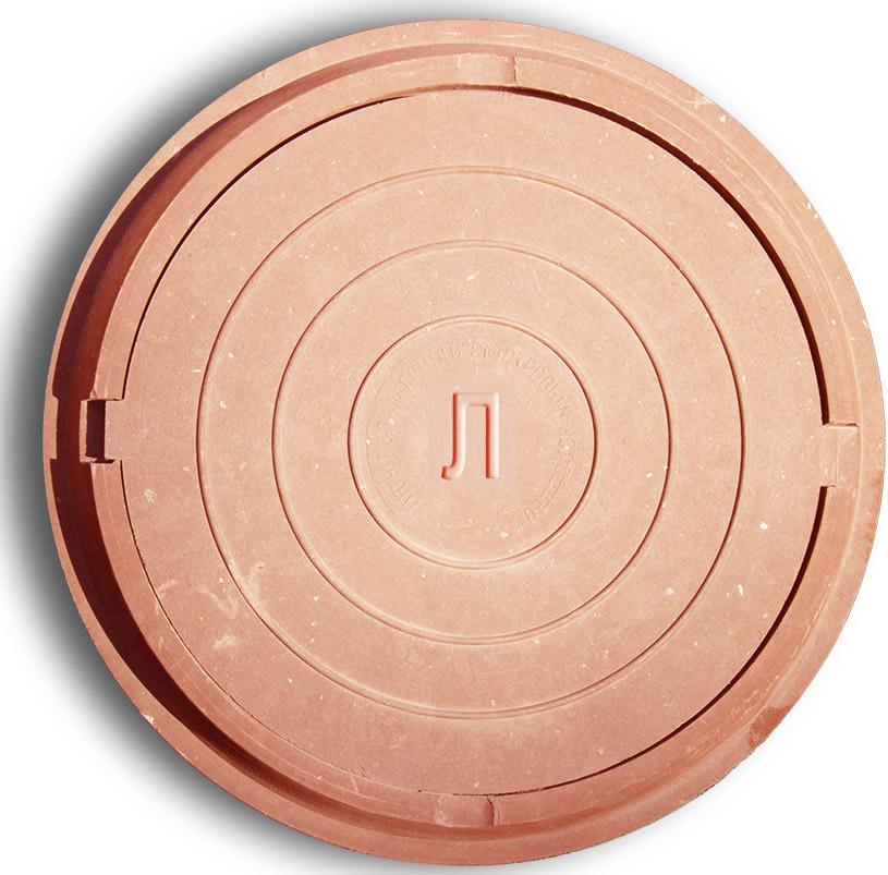 Купить со скидкой Люк канализационный полимер-песчаный Легкий до 3т красный